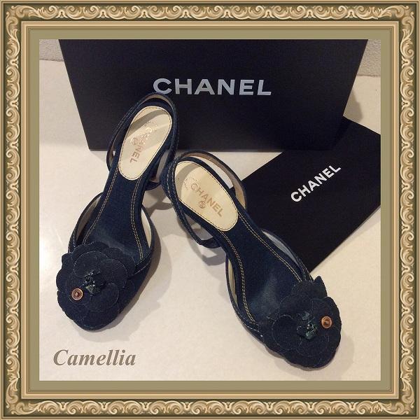 08a9aa0919e9 ... デニム カメリア CCロゴ サンダル パンプス 靴 箱. CHANEL. img1